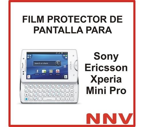 film protector pantalla para sony ericsson xperia mini pro
