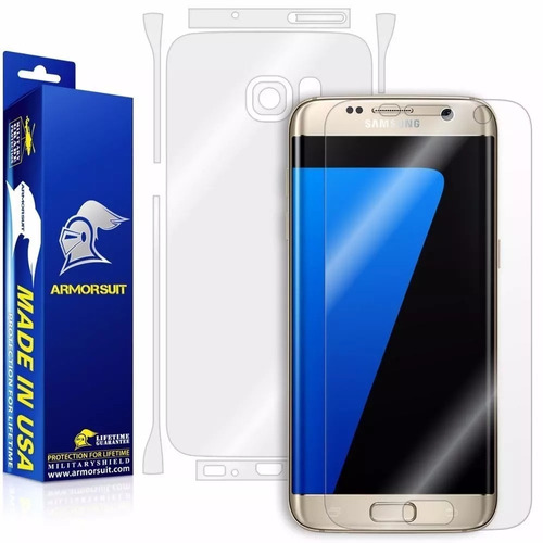 film protector samsung s7 edge marca armorsuit completo,1