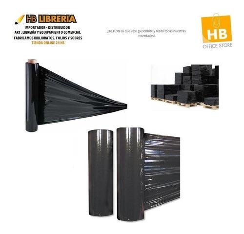film stretch negro cubritivo virgen 50cm rollo 5kg reforzado