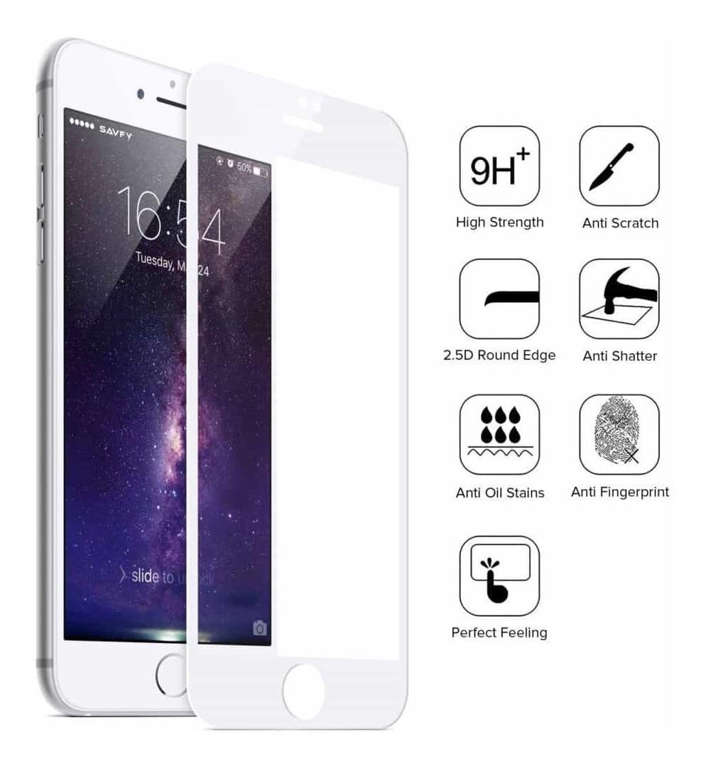 754bce4af44 film templado 5d iphone 7 8 plus protector vidrio curvo 9h+. Cargando zoom.