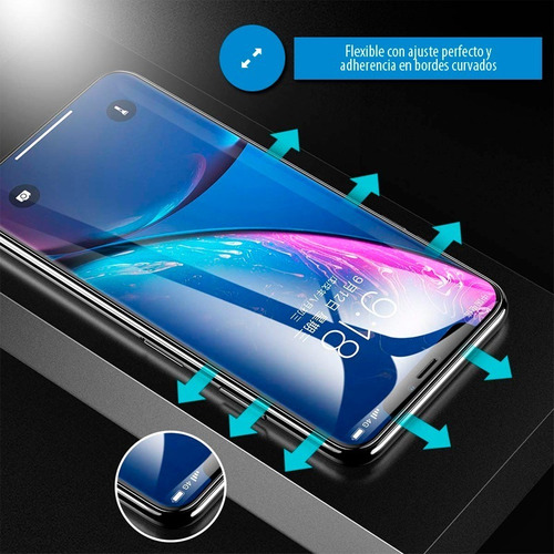 film templado hydrogel full 5d 9d antigolpe todos los iphone