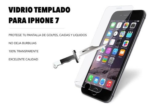 film vidrio templado 100% transparente - iphone 7 - iphone 8