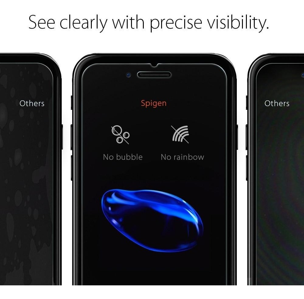 sale retailer df6fa 27489 Film Vidrio Templado Glass Spigen Para iPhone 6s Plus