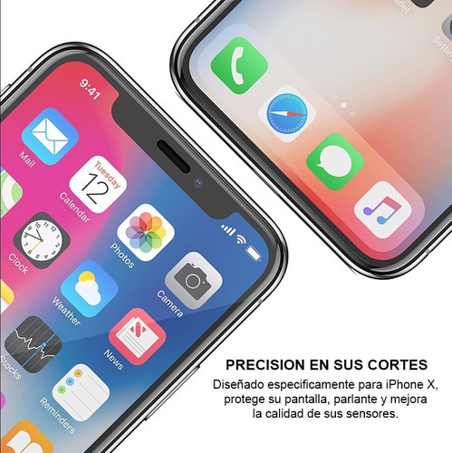 film vidrio templado iphone xs max premium paquete x2 envios