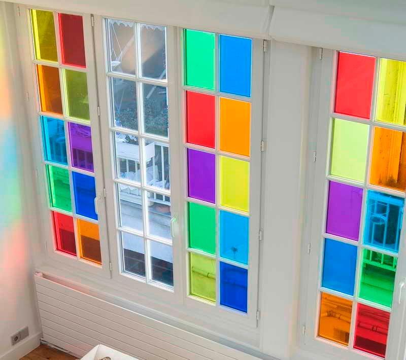 Film vinilo cristal p decorar ventanas vidrios - Cristal con vinilo ...