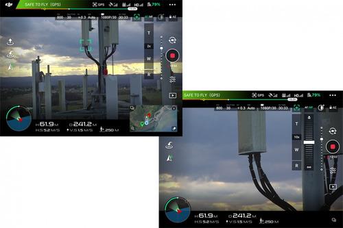 filmación aérea cámara zoom 30x  inspecciones industriales