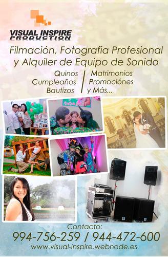 filmación, fotografía y más
