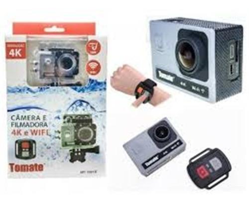 filmadora 4k com controle wifi prova agua aquatica +suportes