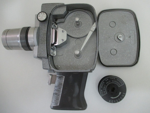 filmadora 8 mm à corda keystone electric eye zoom anos 1960
