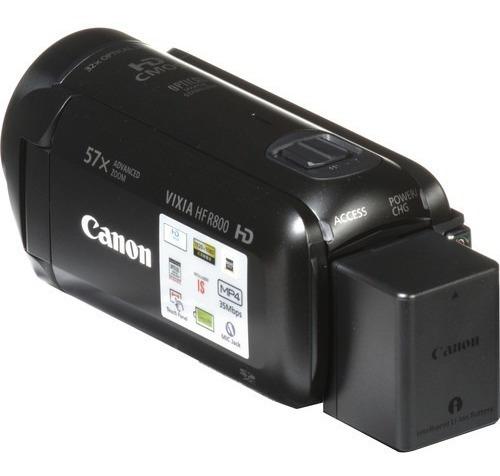 filmadora canon vixia hf r800 entrada microfone 12x s/juros