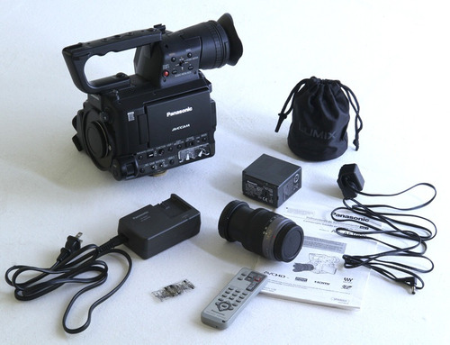 filmadora panasonic ag af 100 + lente original panasonic