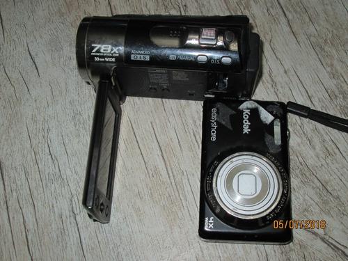 filmadora panasonic e câmera kodak retirada de peças torro