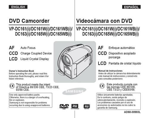 filmadora samsung vp- dc161(i)/dc161w(i)/dc161wb(i)/