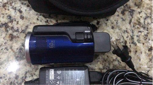 filmadora sony dcr-sr47 hdd 60 gb na cor azul *frete grátis*