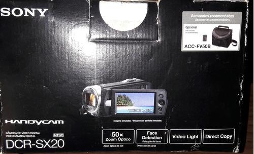 filmadora sony  dcr-sx20  full hd + cartão 8gb