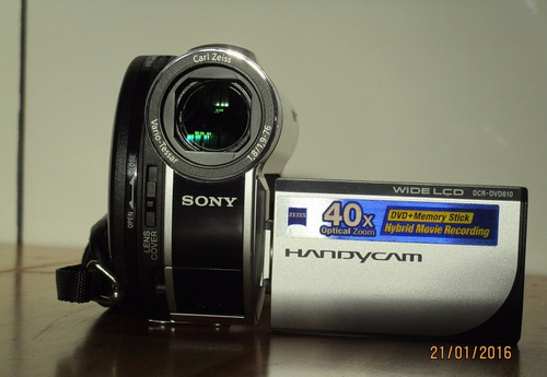 filmadora sony dvd610 handycam 40x optical zoom/2000 digital