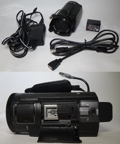 filmadora sony fdr-ax30 4k entrada de microfone nightshot wi