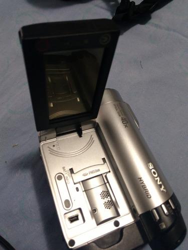 filmadora sony handycam 40x optical con kit completo bateria