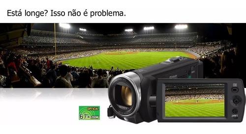 filmadora sony handycam dcr-sx21 zoom 67x top de linha - r$
