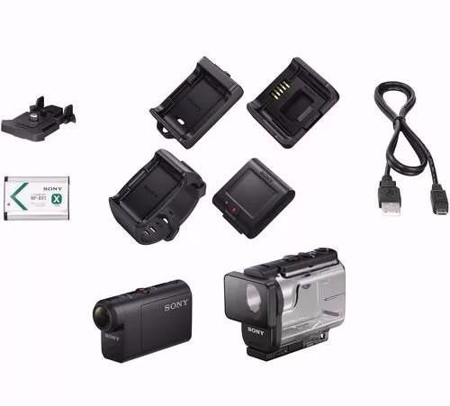 filmadora sony hdr-as50r c/ controle+64gb+bolsa+tripé s/ jur