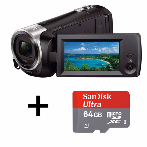 filmadora sony hdr-cx405 fullhd + cartão 64gb pronta entrega