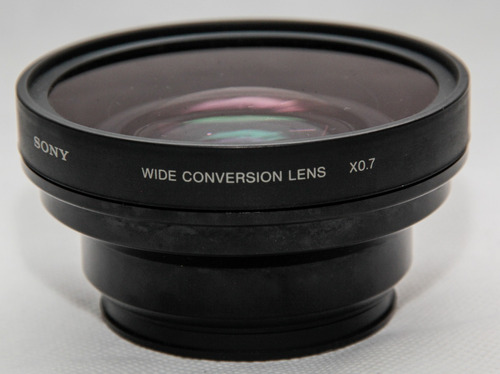 filmadora sony hxr-mc2000 + lente wide 58mm 0.7x
