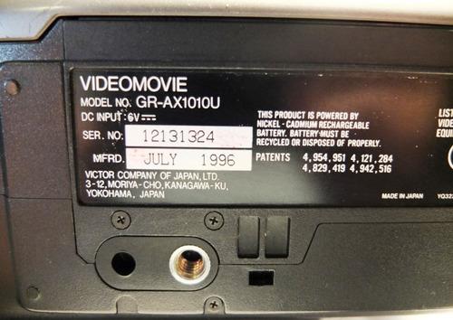 filmadora vhsc jvc gr-ax1010u