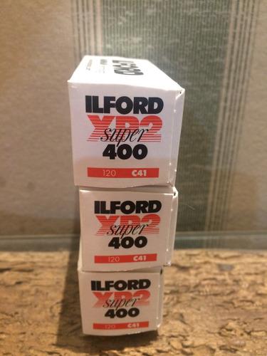 filme 120 ilford xp2 iso 400 preto e branco revel c41 3 un