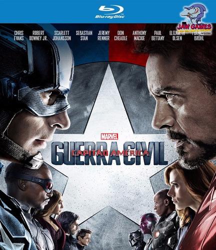 filme blu-ray - capitão américa: guerra civil - novo