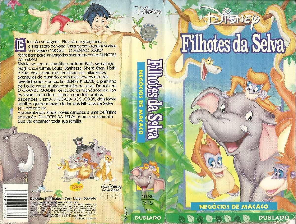 filme desenho animado filhotes da selva negócio de macaco r 17 00
