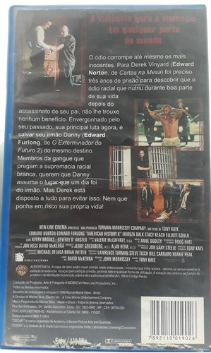 filme fita vhs- a outra história americana- legendado- 1999