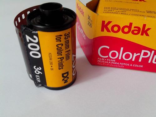 filme fotografico 35mm colorido kodak 36 poses (asa 200)