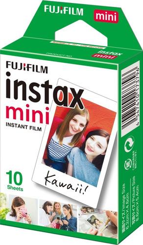 filme fujifilm instax mini todas câmeras instantânea c/ 10un