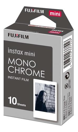 filme instantâneo fujifilm instax mini monochrome pacote 10
