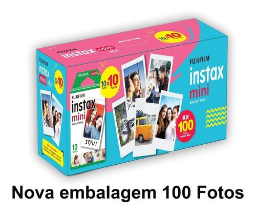 filme instax 100 poses nova embalagem, entrega rápida