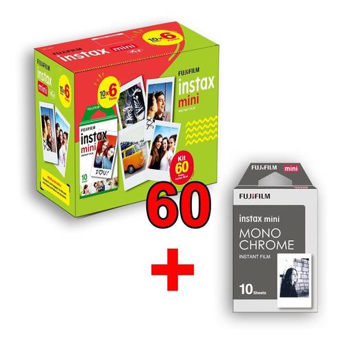 filme instax com 60 poses+ 10 pb  entrega + rápida