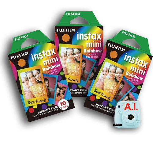 filme instax mini 10 fotos com moldura colorida 03 filmes