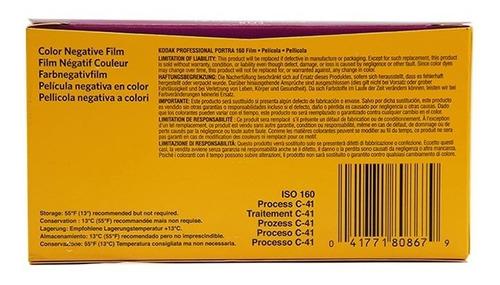 filme kodak portra 160 negativo colorido 120 - 5 unid