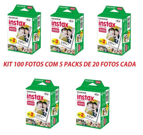 filme original instax mini pack com 100 instantanea fujifilm
