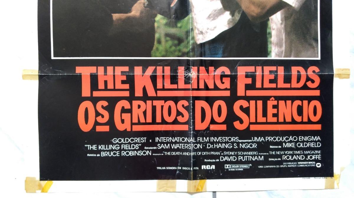 Filme Os Gritos Do Silêncio Cinema Cartaz Original Anos 80