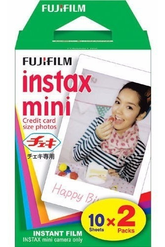 filme p/ instax mini 8 7s 90 polaroid 300 pack com 20 fotos