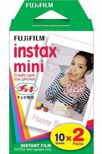filme p/ instax mini 8 9 7s 90 polaroid 300 c/ 20 fotos