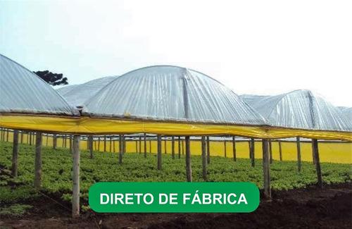 filme plastico para estufa agricola 10m x 60m - 150micras
