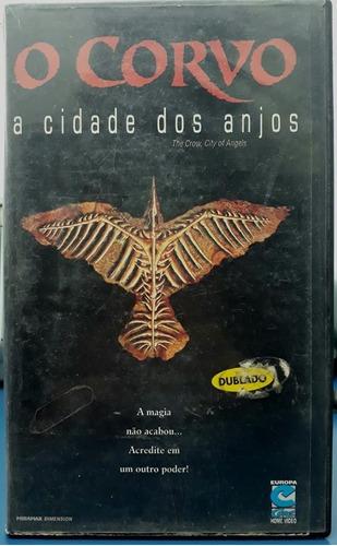 filme terror- fita vhs- o corvo- a cidade dos anjos- dublado