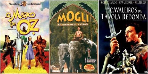 filmes o mágico de oz + mogli + cavaleiros da távola redonda
