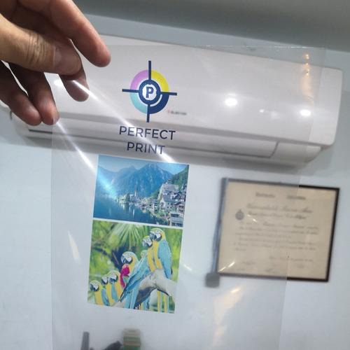 filminas transparentes a4 x 10 hojas transparencias para impresoras a chorro de tinta inkjet