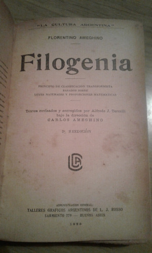 filogenia - florentino ameghino