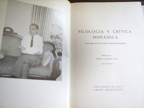 filología y crítica hispánica   envío gratis+