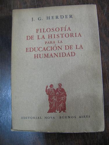 filosofía de la historia para la educación de la humanidad.