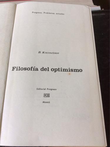filosofía del optimismo, b. kuznetsov